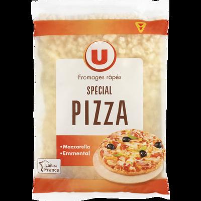 Mélange de fromages râpés au lait pasteurisé spécial pizza U, 25%MG, 150g
