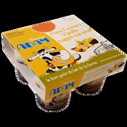 Flans vanille caramel Ferme Adam, 4x125g