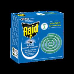 Spirales anti-moustiques pour usage extérieur RAID, x10