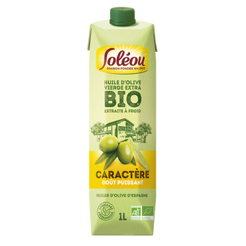 Soléou Huile Olive Vierge Extra Bio Soleou, 1l