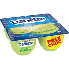 Danone Crème Dessert Saveur Pistache Danette 4x125g Prix Choc