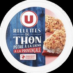 Rillettes de thon péché à la ligne à la Provençale U, boîte de 125g