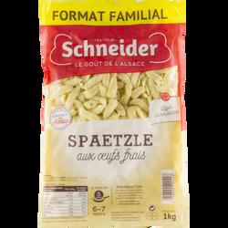 Spaetzle aux oeufs frais SCHNEIDER, sachet de 1kg