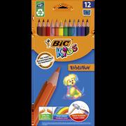 Bic Crayons De Couleur Bic Kids Ecolution, Pack De 12