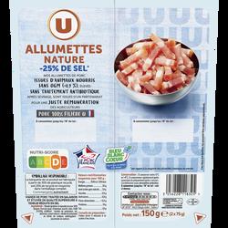 Allumettes de porc nature tsr U 2X75g 150g