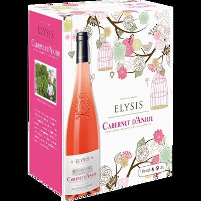 Vin rosé AOC Cabernet d'Anjou ELYSIS, fontaine à vin de 3 litres