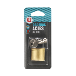 Cadenas U en laiton, 30 mm, 3 clés