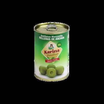 Olives anchois KARINA, boîte 1/2 de 120g
