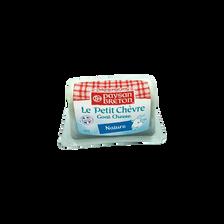 Bûchette de chèvre nature au lait pasteurisé PAYSAN BRETON, 22% de MG,100g