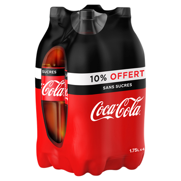Coca Cola Coca-cola Zéro Pet 4x1,75 Litre 10%off
