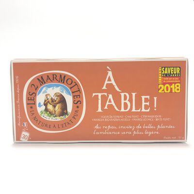 INF.A TABLE !  LES DEUX MARMOTTES