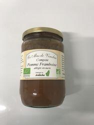 Compote de pomme/framboise bio allégée en sucre 630g Mas de Vinobre