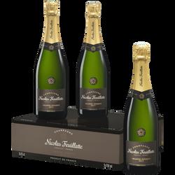 Champagne brut grande réserve NICOLAS FEUILLATTE, 3x75cl