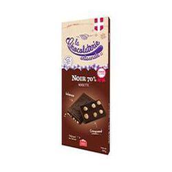 tablette de chocolat noir 70% noisette CHOCOLATERIE ARTISANALE 100g