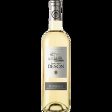 """Vin blanc moelleux AOC Bordeaux """"Château Deson"""", 11° bouteille de 75cl"""