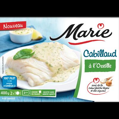 Cabillaud sauce à l'oseille MARIE, 400g
