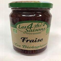 Confiture de fraise biologique, LES 4 SAISONS, 360G