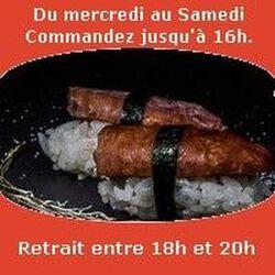 Sushi par paire Diot fumé aromatisé au génépi SUSHI MONT BLANC