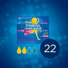 Tampon compak active fresh régulier TAMPAX, x22