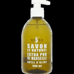 Savon liquie huile d'olive SAVON LE NATUREL, pompe de 500ml