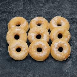 Mini donut sucre, décongelé, 9 pièces, 160g
