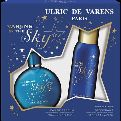 Coffret varens in the sky ULRIC DE VARENS, eau de parfum de 50ml+déodorant de 125ml