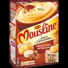 Purée à l'ancienne crème et pointe de noix de muscade MOUSLINE, 4x125g