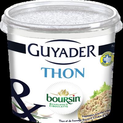 Tartinable au thon et Boursin échalotes et ciboulette GUYADER, 120g