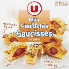 Mini feuilletés à la saucisse U, 24 pièces, 384g