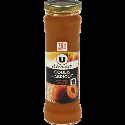 Coulis d'abricot U SAVEURS, 220g