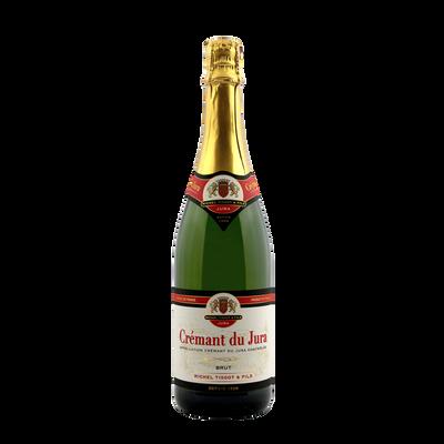 Crémant du Jura blanc brut, bouteille de 75cl