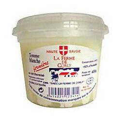 Tomme blanche fermière au lait thermisé FERME DE CORLY, 40%MG, 400g