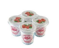 Yaourt fermier fraise PROUZIC 4x125g