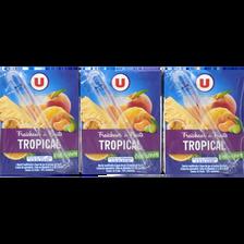 Fraîcheur de fruit tropical riche en fruits U, 6 briques de 20cl