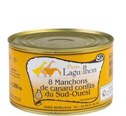 LAGUILHON 8 MANCHONS DE CANARD EN CONFIT 1.350Kg