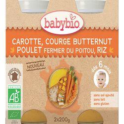 BABYBIO CAROT COURGE 2X200G