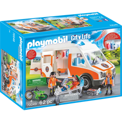 Playmobil City Life - Ambulance et secouristes - 70049 -Dès 4 ans