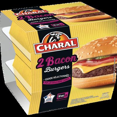 Cheesburger au bacon CHARAL, 2x155g.