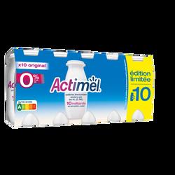Boisson lactée fermentée nature ACTIMEL, 0%mg, 10x100g