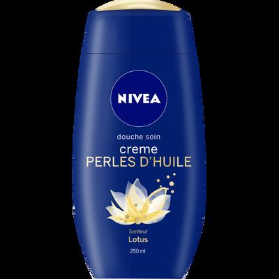Douche crème perles d'huile lotus NIVEA, flacon de 250ml