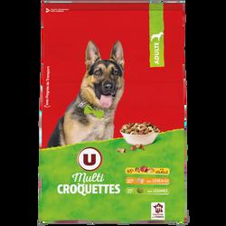 Croquettes chien adulte volaille, céréales et légumes U, 10kg