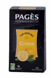 Thé noir Citron Bio PAGES