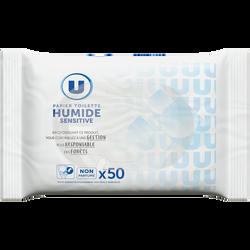 Papier toilette humide sensitive U x50