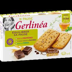 Biscuits au chocolat et céréales GERLINEA, 200g