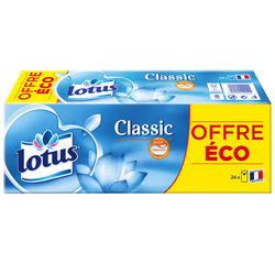 Mouchoirs classic blanc LOTUS, x24