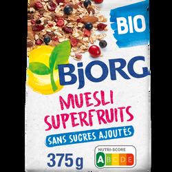 Muesli aux superfruits bio BJORG, 375g