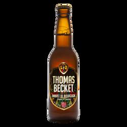 Bière ambrée THOMAS BECKET 6.5°, bouteille de 33cl