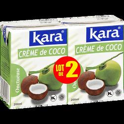 Crème de noix de coco KARA, 2 briques de 200ml