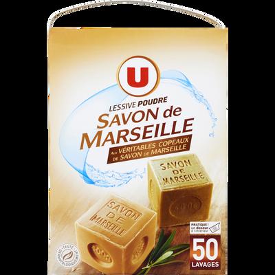 Lessive poudre au savon de Marseille U 50 lavages 2,750kg