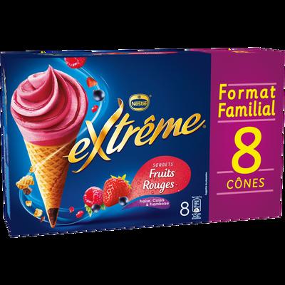 EXTRÊME sorbets aux fruits rouges, x8 soit 568g